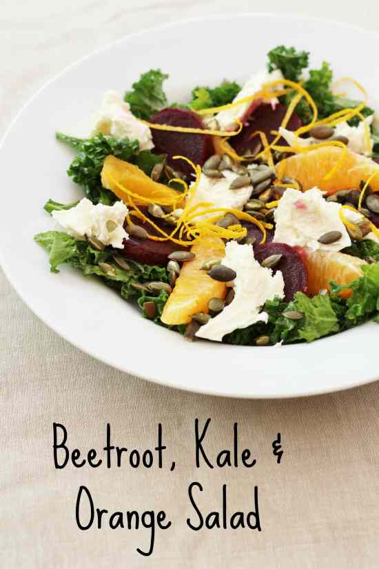 Beetroot, Kale and Orange Salad