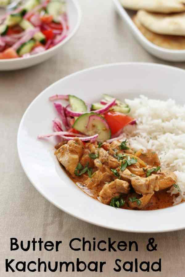 Butter Chicken and Kachumbar Salad