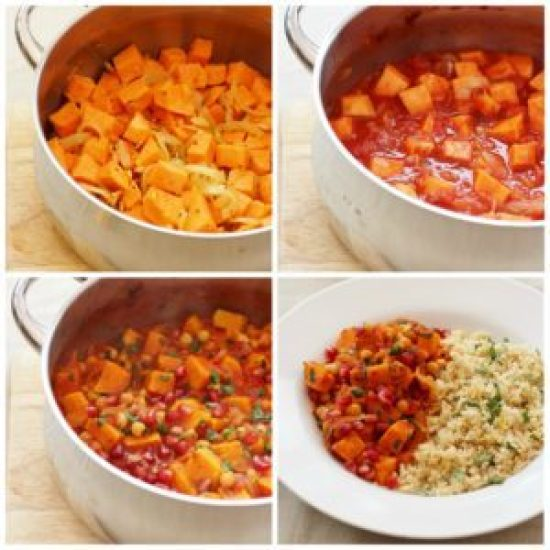 Harissa, Sweet Potato and Chickpea Tagine