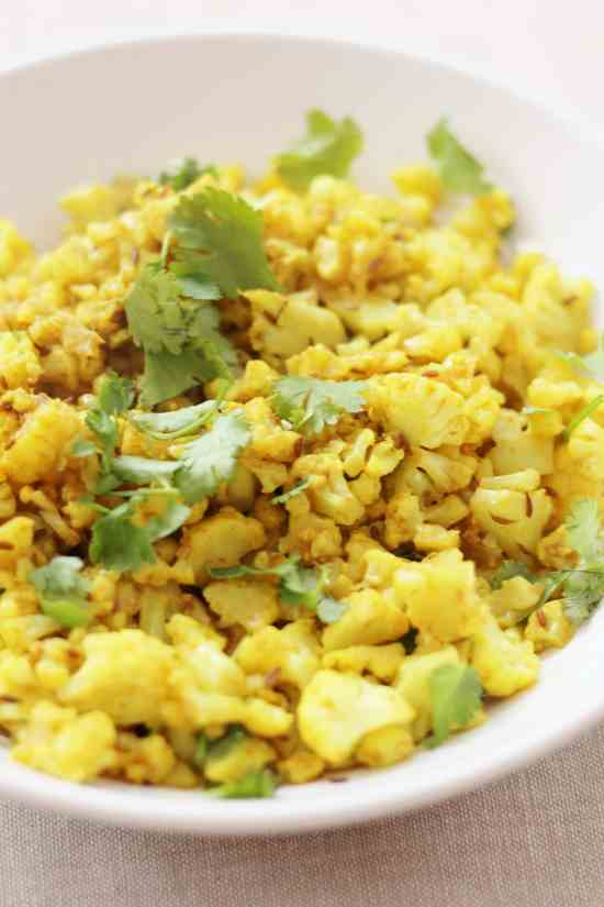 Madeleine Shaw's Indian Spiced Cauliflower Rice from Get the Glow