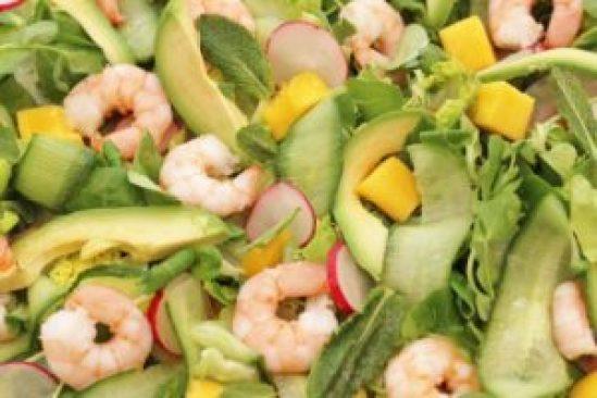 Prawn, Avocado and Mango Salad