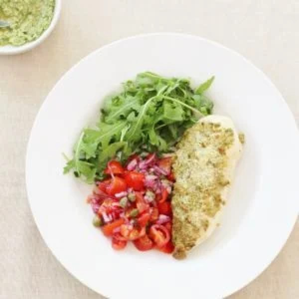 What is the sirtfood diet and does it really work part 2 easy baked chicken breast with walnut and parsley pesto from the sirtfood diet forumfinder Choice Image