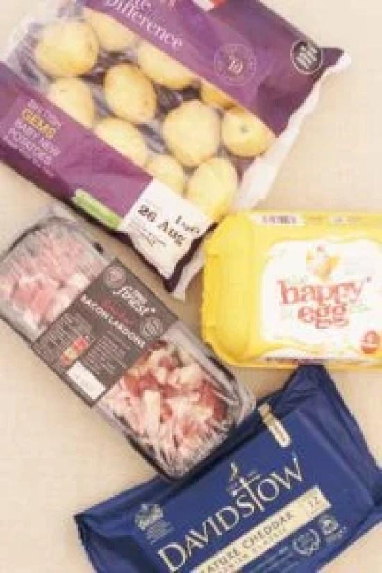 Quiche Lorraine Style Frittata Ingredients