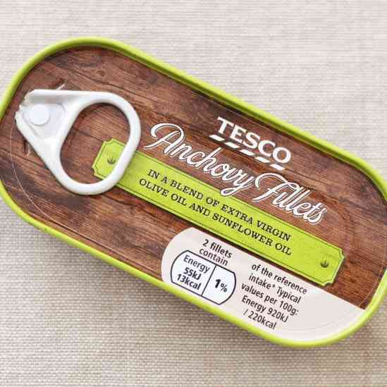 Tesco Anchovies for Easy Sicilian Style Tuna Pasta
