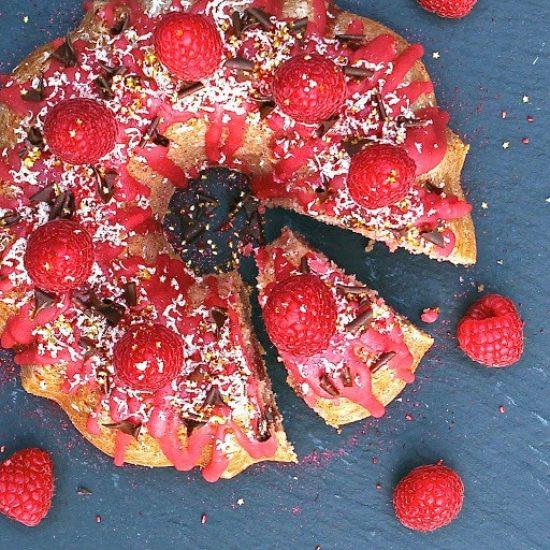 GF Alchemist Signature Raspberry & Lemon Drizzle Bundt Cake (gluten free)