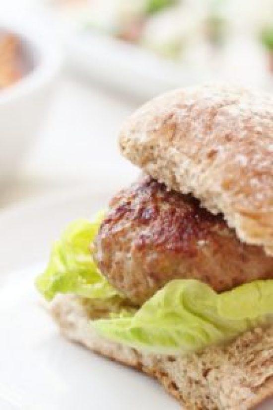 Harissa Turkey Burgers with Cumin Spiced Sweet Potato Wedges