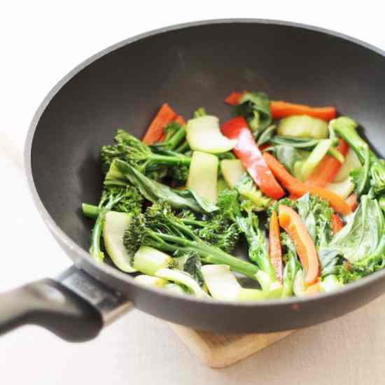 Stir Fried Veg to go with Thai Beef Massaman Curry