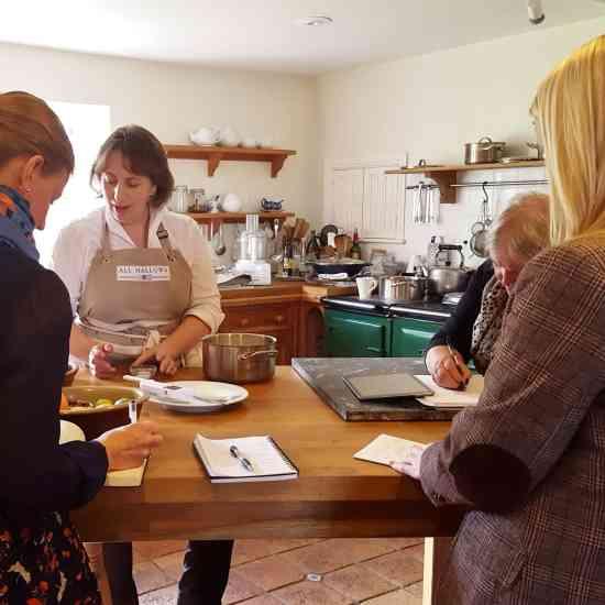 Lisa Osman demonstrating making mascarpone