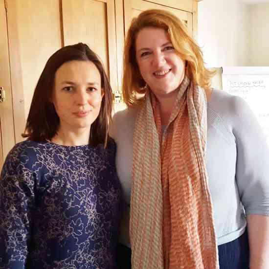 Me with Karen Barnes, Editor of Delicious Magazine