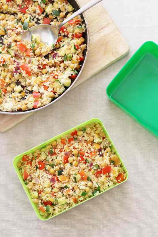 Chickpea and Apricot Couscous Salad for the Flora Lunchbox Challenge