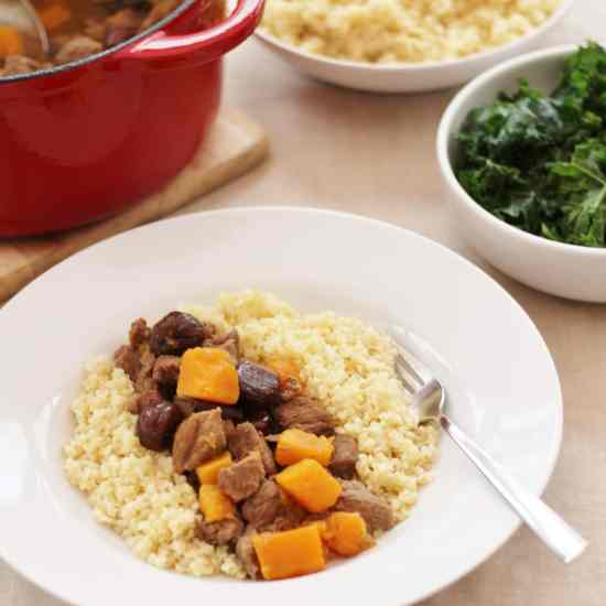 Lamb Stew with Spices, Butternut Squash and Chestnuts