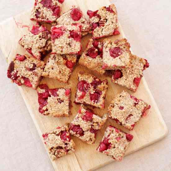 Cranberry, Cinnamon and Pecan Porridge Squares