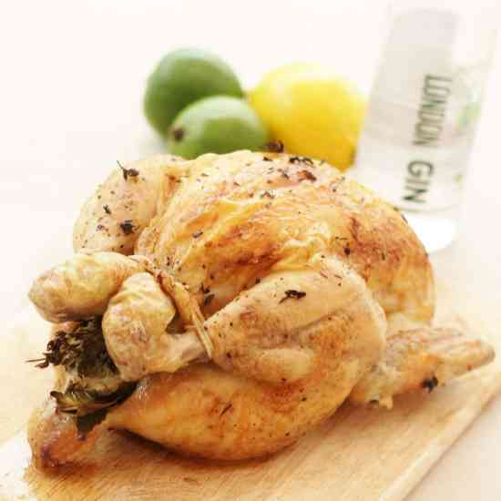 Gin Brined Chicken