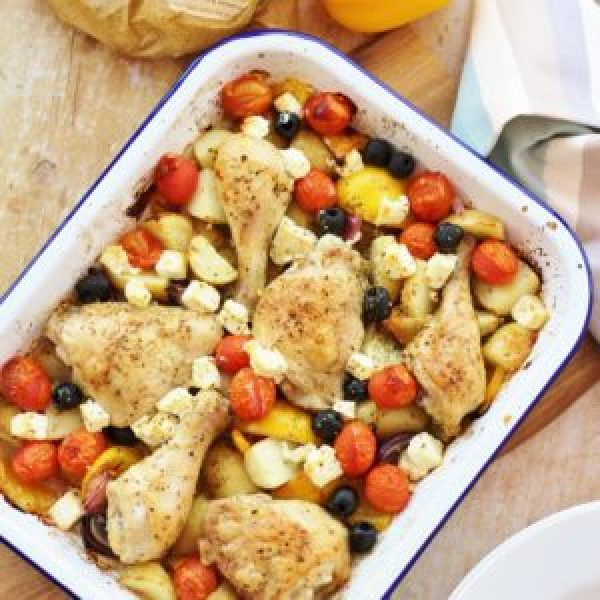 Greek Chicken Traybake with Cypriot New Potatoes