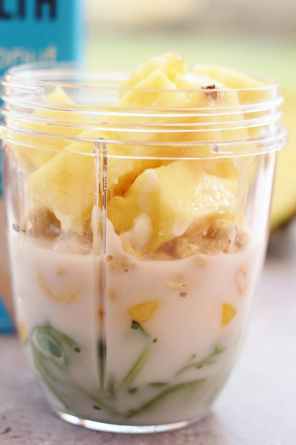 Pineapple, Mango, Coconut and Cashew Nut Smoothie