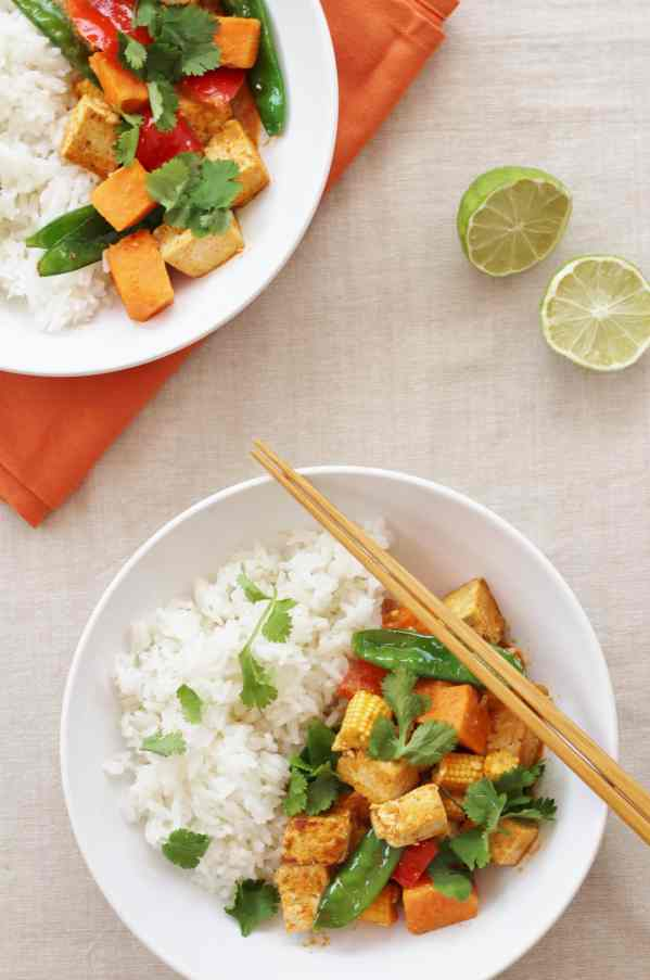 Thai Red Tofu and Sweet Potato Curry