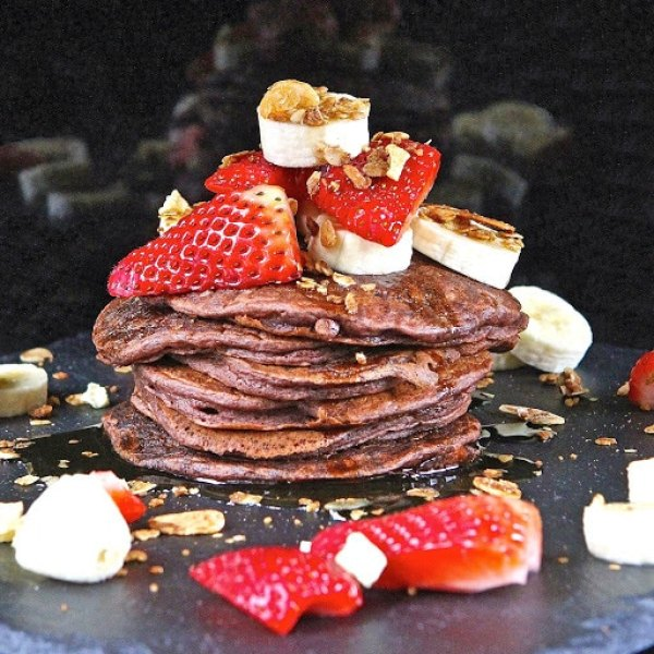 Beetroot Buttermilk Pancakes