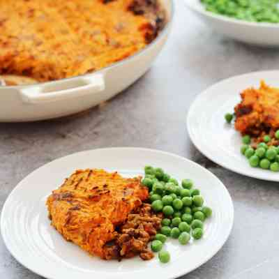 Curried Shepherd's Pie with Sweet Potato Mash Topping
