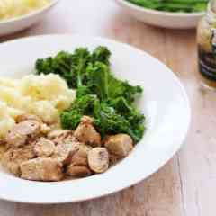 Easy Cider Cream and Mustard Pork