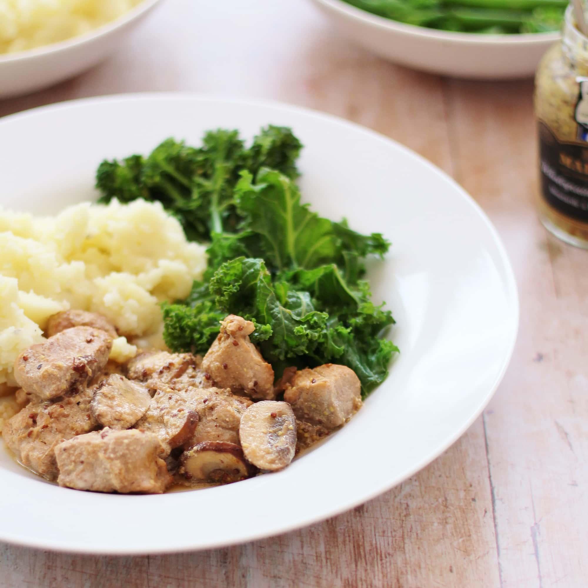 Pork Tenderloin with Mushrooms, Cream and Cider Recipe pictures