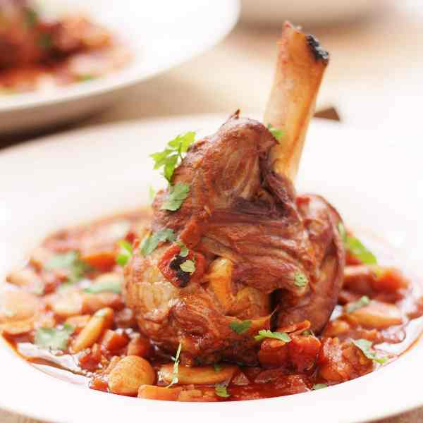 Spanish Red Wine and Lamb Shank Casserole