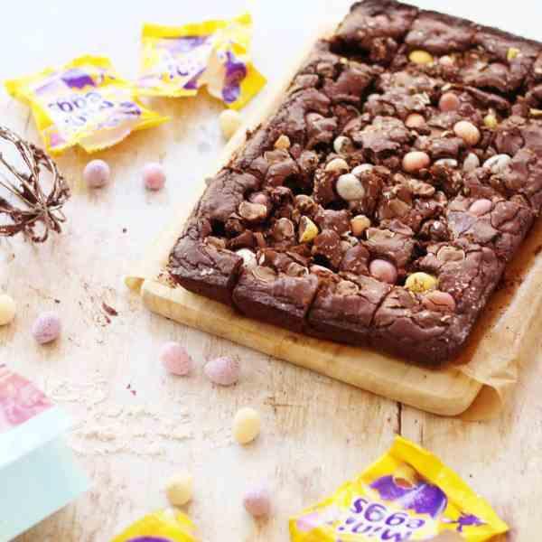 Gluten Free Mini Egg Brownies