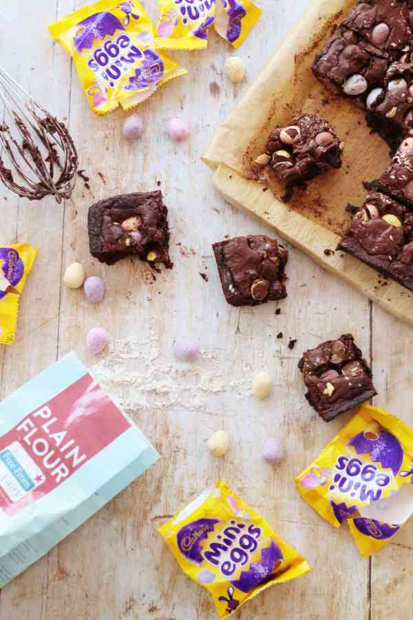 Mini Egg Brownies Gluten Free