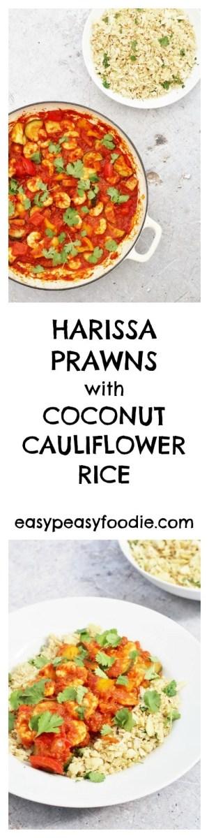 Harissa Prawns with Coconut Cauliflower Rice