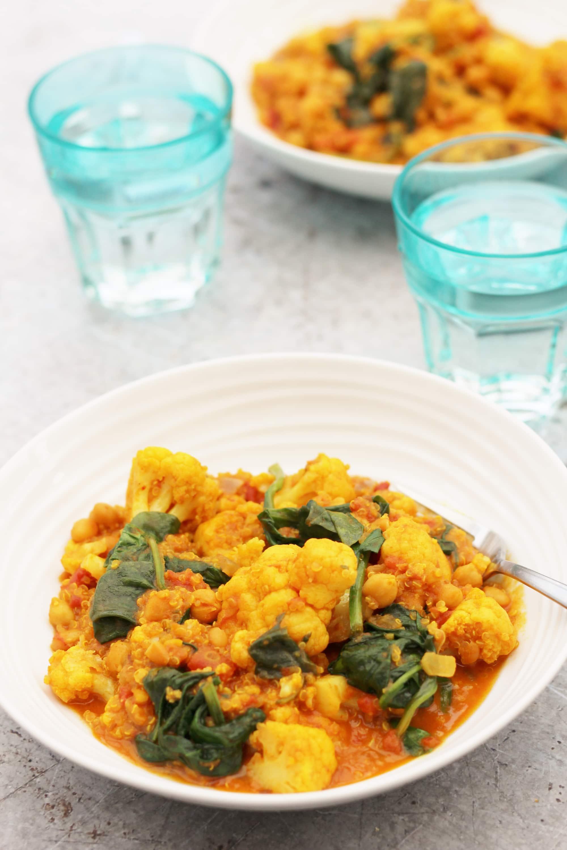 recipe: spinach and cauliflower bhaji [28]