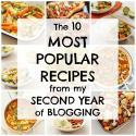 The 10 most popular recipes from my second year of blogging