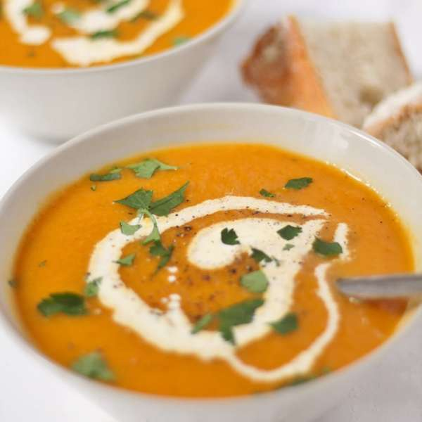 Carrot and Coriander Soup by Jacqui at Recipes Made Easy