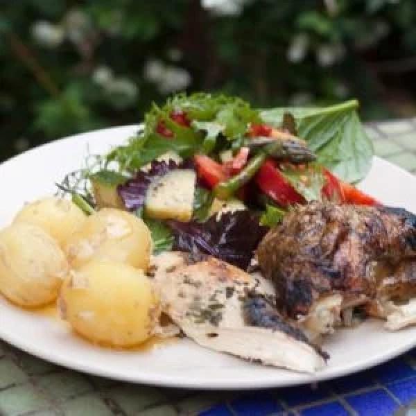BBQ Spatchcock Garlic and Herb Chicken
