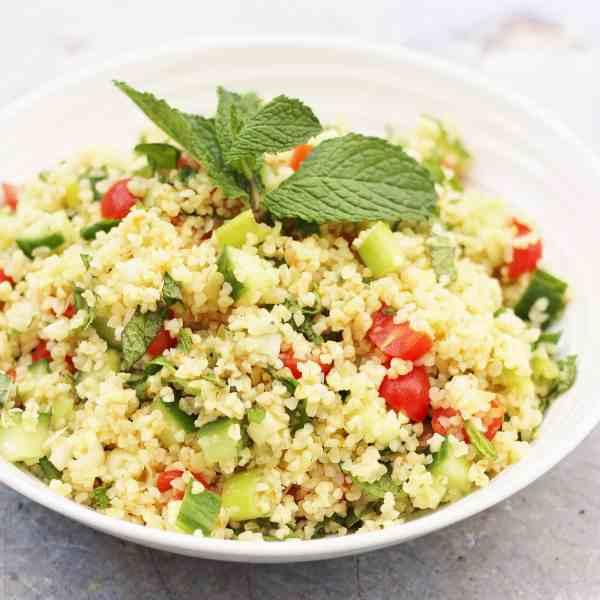 Easy Tabbouleh Salad (Vegan)