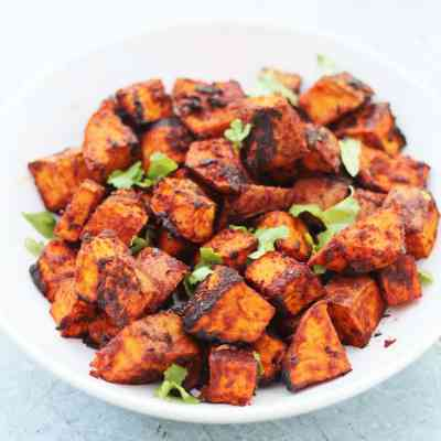 Mexican Roasted Sweet Potato Cubes (Vegan)