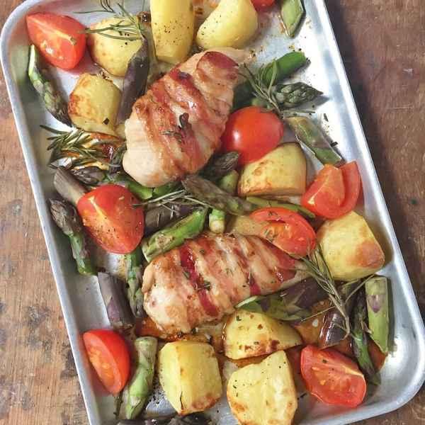 Chicken and Asparagus Traybake