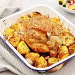 One Pan Greek Roast Chicken and Potatoes