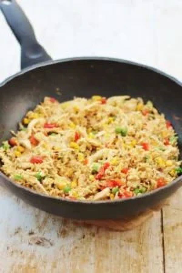 Leftover chicken and egg fried rice easy peasy foodie leftover chicken and egg fried rice ccuart Images