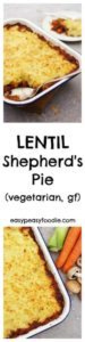 Easy, delicious and full of fab ingredients, this Lentil Shepherd's Pie is comfort food at its finest and the perfect way to celebrate #organicfood! #organic #eatorganic #vegetarian #glutenfree #shepherdspie #vegetarianshepherdspie #lentilshepherdspie #OrganicSeptember