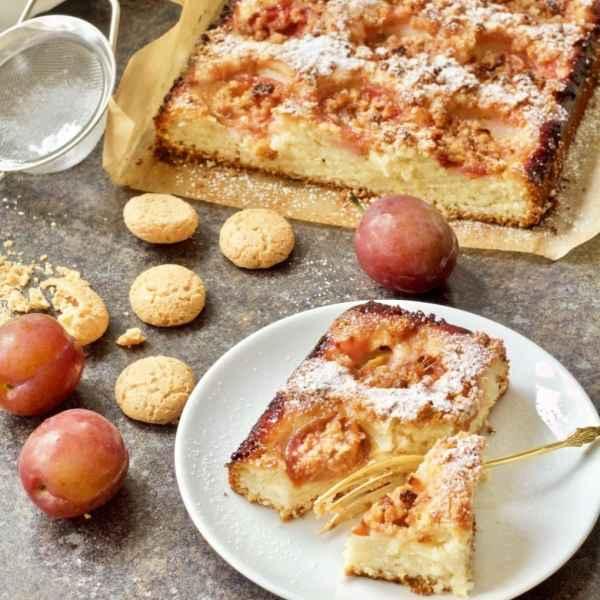 Italian Plum and Almond Cake