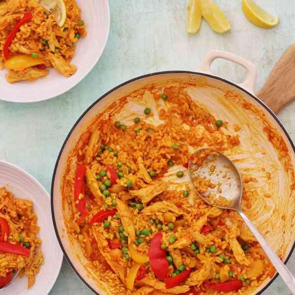 Leftover Turkey Paella