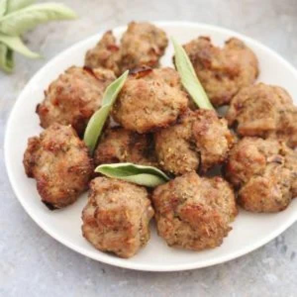 Pork Sage and Onion Stuffing Balls - Gluten Free Dairy Free Egg Free Nut Free
