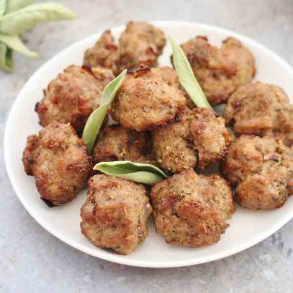 Pork Sage and Onion Stuffing Balls - Gluten Free Dairy Free Egg Free Nut Free
