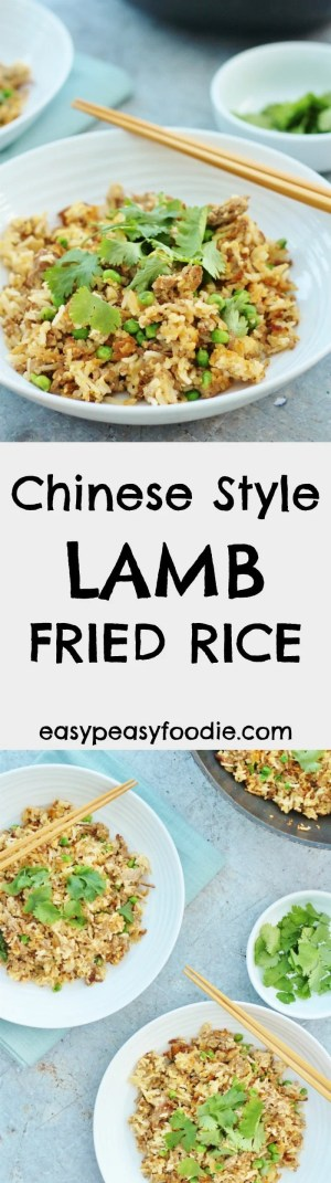 Shake up your midweek meal routine with a lambtastic twist on an old favourite! My easy Chinese Style Lamb Fried Rice is easy to make, takes just 15 minutes to cook and only uses one pan – perfect for those busy weeknights or as part of a bigger spread for a Chinese themed party or Chinese New Year celebrations. #lamb #friedrice #egg #lambmince #chinese #chinesenewyear #easydinners #midweekmeals #under30minutes #easypeasyfoodie