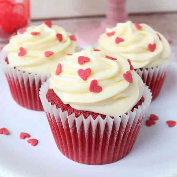 Red Velvet Cupcakes for Valentines Day