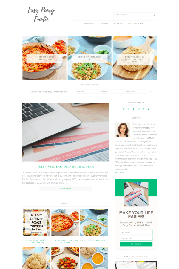 Easy Peasy Foodie Home Page 2018