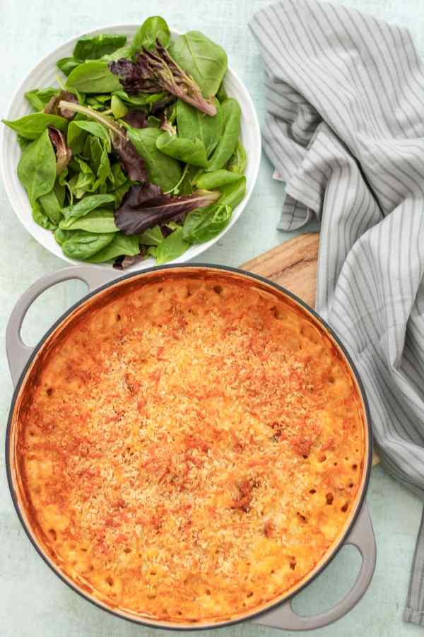Spanish style Macaroni Cheese with Chorizo and Manchego
