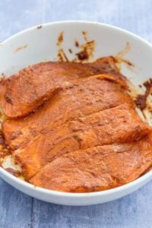 Jerk Salmon with Mango and Avocado Salsa
