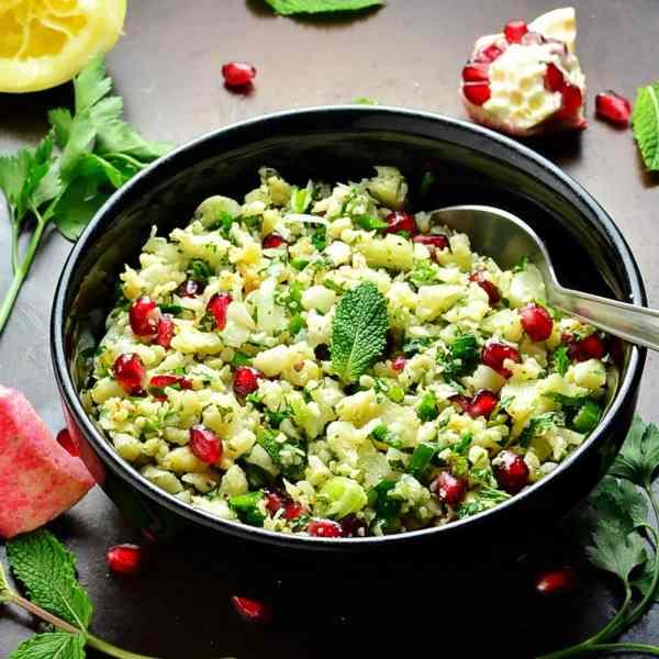 Cauliflower Tabbouleh with Pomegranate