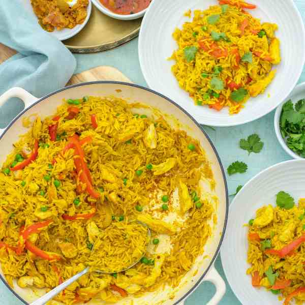 Leftover Roast Chicken Biryani