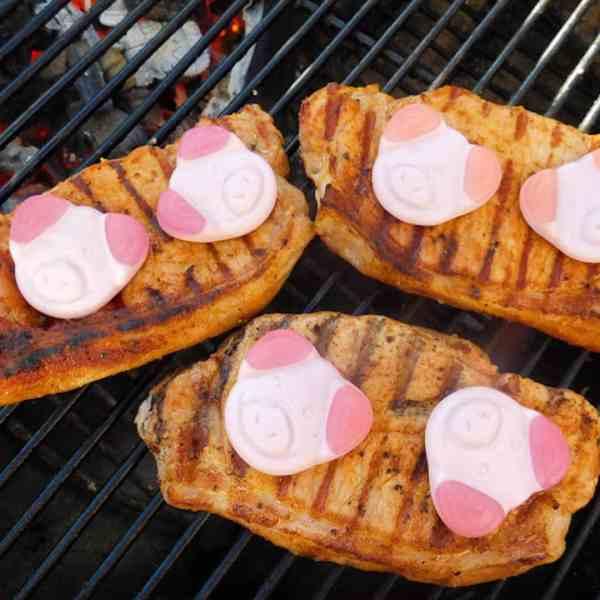 BBQ Percy Pig Loin Steaks